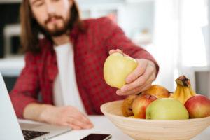 Obst am Arbeitsplatz