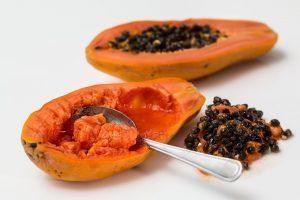 Papaya exotische Frucht