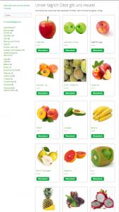 Lebensmittel online bestellen Screenshot Fruchtpäckchen.de